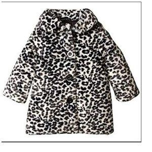 Girl's Size 3T NWT Calvin Klein Coat Faux-Fur Blk